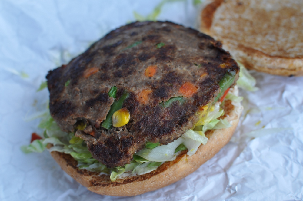 It Seemed Quite Heavy For A Veggie Burger, And After Pulling It From The  Bag I Could See Why.